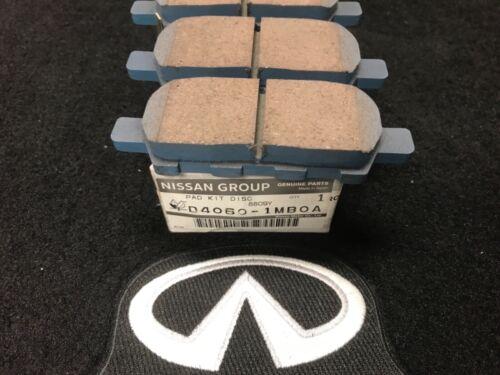 NEW OEM NISSAN INFINITI Non Sport Rear Brake Pad Kit D40601MB0A G37 Q50 Q60 370Z