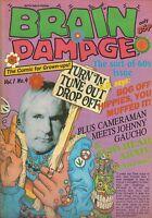 BRAIN DAMAGE  Vol. 1 #4  British comic from 1989  f