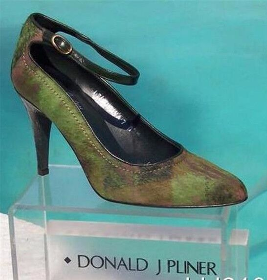 colorways incredibili Donald Pliner Pliner Pliner Couture Gator Leather Kiwi Hair Calf scarpe New Pump  385 NIB Dimensione 7  sconto online di vendita