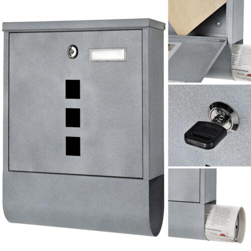 Briefkasten Wandbriefkasten Zeitungsrolle   Beton Design Grau Namenschild Mail