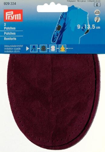 Prym parches de cuero gamuza para imitacion plancha 9x13,5 cm rojo oscuro 1 pares 929334