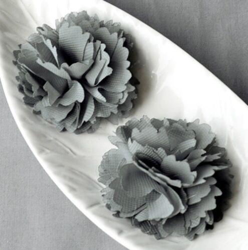 6 en mousseline de soie fleur tissu doux Fleur Rose Soie Mariage Artisanat Accessoires