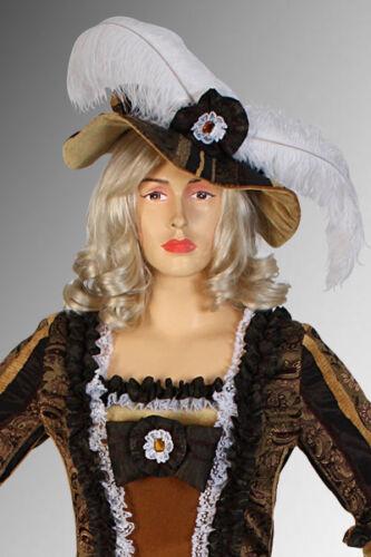 Ladies Feathered Renaissance Hat