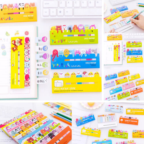 Kawaii Animal Memo Pad Bookmarks Creative Animal Sticky Notes Paper Stickers