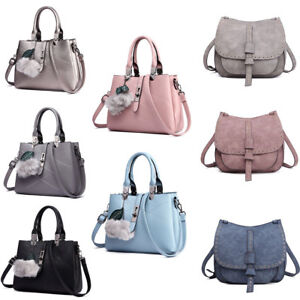 Fashion-Women-Designer-PU-Leather-Handbag-Cross-Body-Satchel-Shoulder-Bag