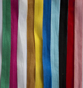 100-PURE-SILK-RIBBON-7MM-13MM-VARIOUS-LENGTHS-amp-COLOURS-CRAFTS-WEDDING