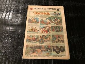 Sunday-Comics-Newspaper-Section-CHICAGO-PICTURE-MARCH-5-1939-TARZAN-etc