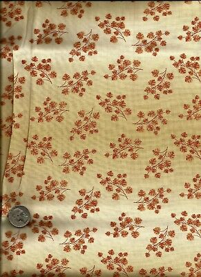 """""""The Marblehead Rose Collection"""" Print red on tan Fabric by Ro Gregg - Northcott"""