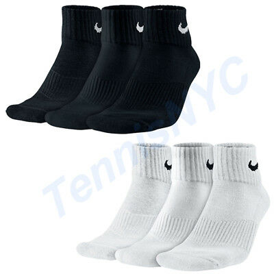 Entretenimiento incompleto trabajo  NIKE 3 Pack Quarter Cushioned Tennis Socks Running Golf Unisex ...
