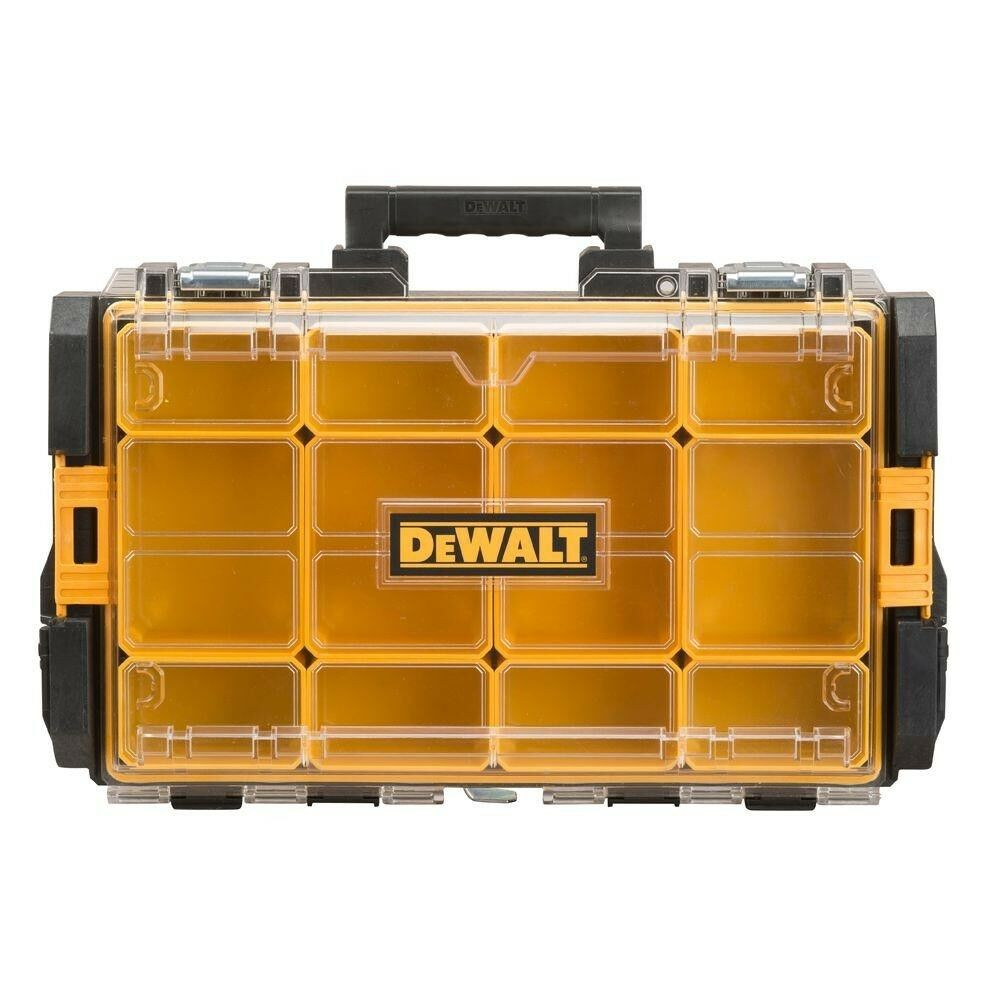DEWALT Small Parts Organizer Tool Storage 12-Compartment Tough System Clear Lid
