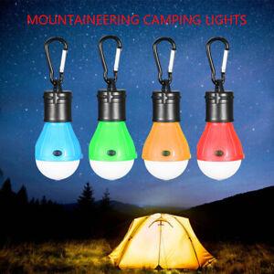 4pcs 1200 lumens Portable LED Camping Lantern Light Bulbs Clip Hook Tent Hiking