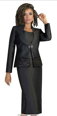 """Helpful Tally Taylor Black Skirt Suit/skirt Length 32""""/lined/size 18w/tank Included/$320 Dependable Performance Women's Clothing Suits & Suit Separates"""