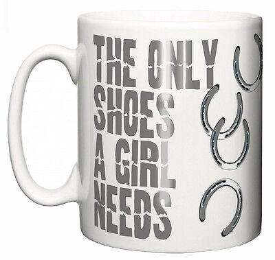 lustig Pferd Becher  The Only Schuhe A GIRL 'benötigt Ich liebe  Reiten