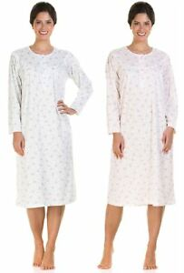df33baed70 Ladies Incontinence Open Back Floral Poly Cotton Hospital Nightdresses  Nightie By Lady Olga