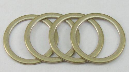 messing 38mm  rostfrei 08.04 8 Stück D-Ringe Ringe Ring  silber