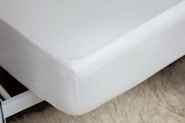 400 Thread Count Single Ply Egyptian Cotton Fitted Sheet In White 30cm Superking Goede Warmteconservering