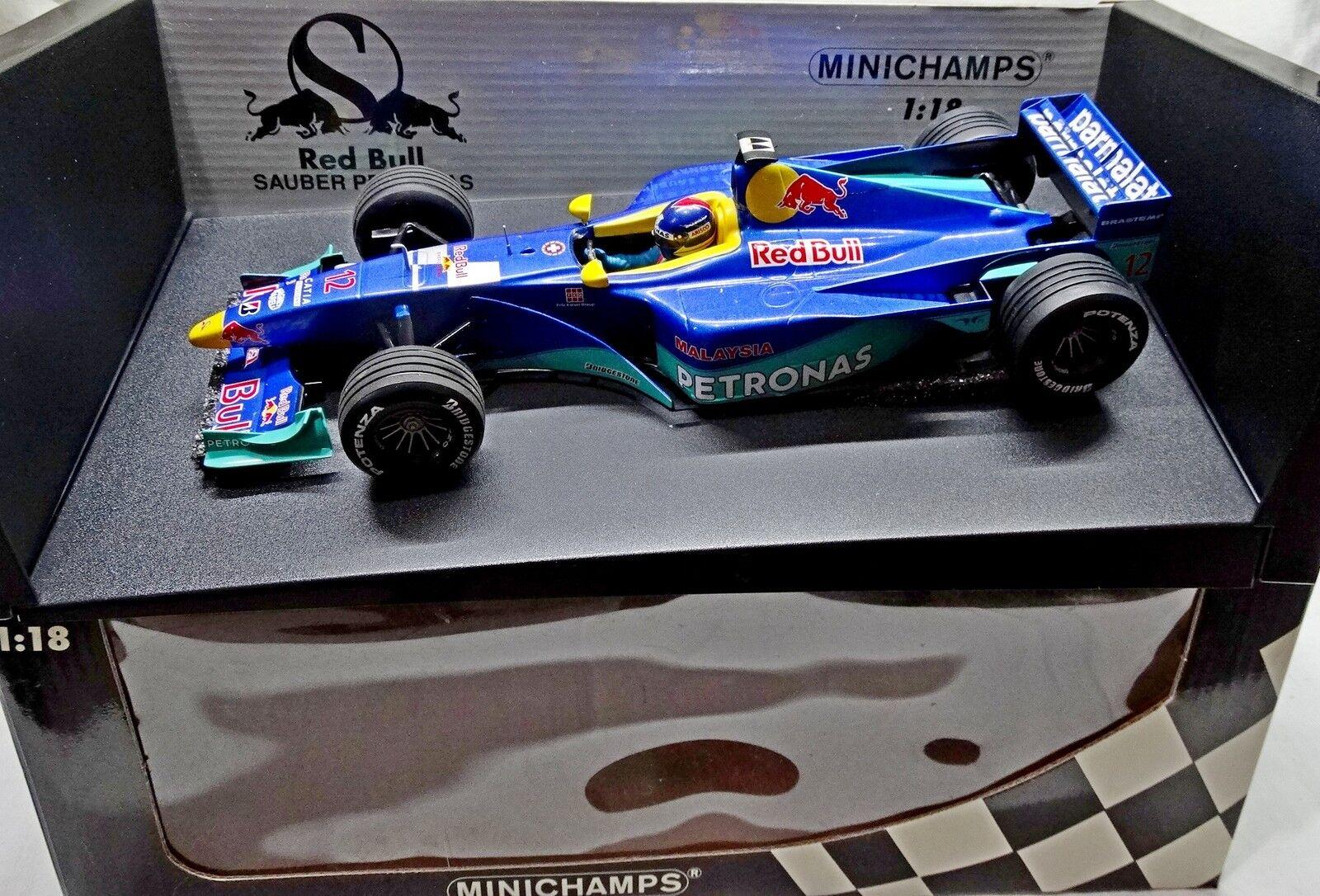 Red Bull Sauber c18 f1 1999 Pedro diniz Minichamps RARE Built 1 18 no spark