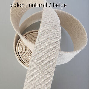 NATURELLE-beige-Yoga-toile-coton-Ceinture-Sangle-Sac-couture-Renforcee-beaucoup