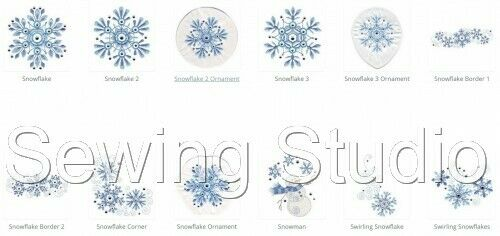 WINTER GLITZ DESIGNS MACHINE EMBROIDERY DESIGNS ON CD OR USB