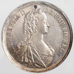 "1745, Austria, Empress Maria Theresa. Silver ""Peace of Füssen"" Medal. NGC UNC+"