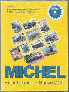 Michel-catalogus-treinen-Eisenbahnen-wereld-2010-trains-on-stamps-incl-CD