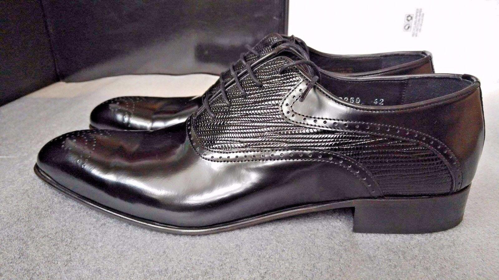 Reprise  noir chaussures hommes Taille 42EU (8UK) - 100% Cuir