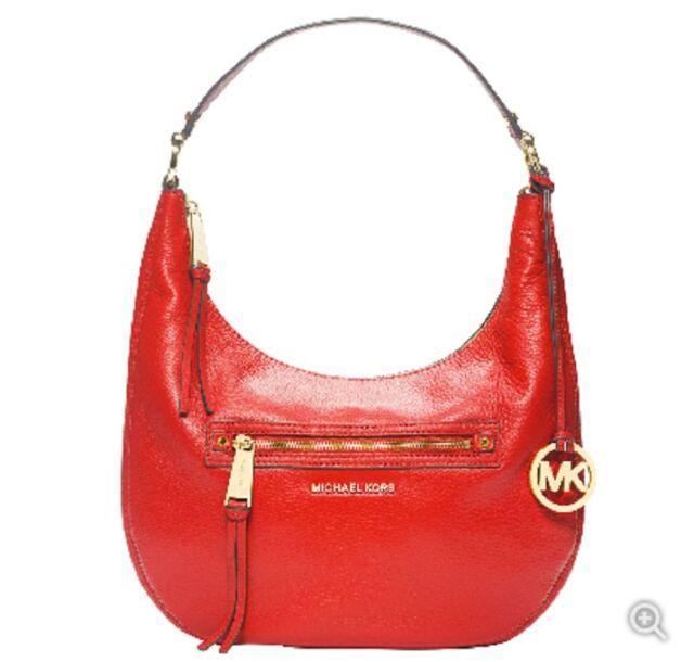 ab82d5244c01 Michael Kors Rhea MEDIUM MANDARIN Leather Shoulder bag Zip Top factory pack  $268