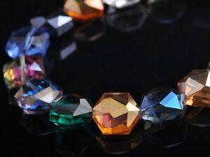 10pcs-16mm-Hexagon-Faceted-Crystal-Glass-Charms-Loose-Spacer-Beads-Mixed-Colours