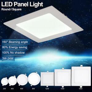 3 24w Led Panel Lumiere Encastre Plafond Spot Lampe Cuisine