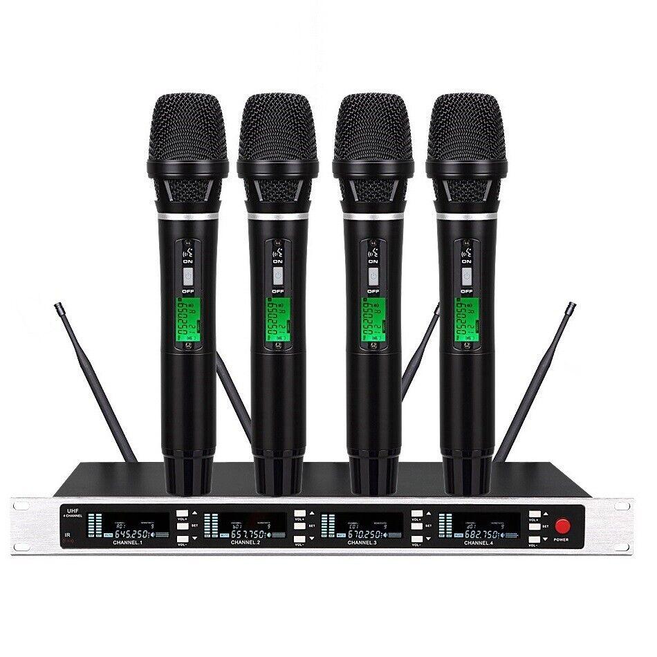 Handheld Wireless Mic System True Diversity KTV DJ Dynamic Microphone System Set