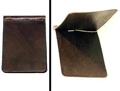 LEATHER CARD HOLDER Amish Handmade in USA DARK BROWN Minimalist Wallet