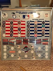 Details About Vintage Major League Baseball Standings Magnet Dry Erase Board Mlb Standings