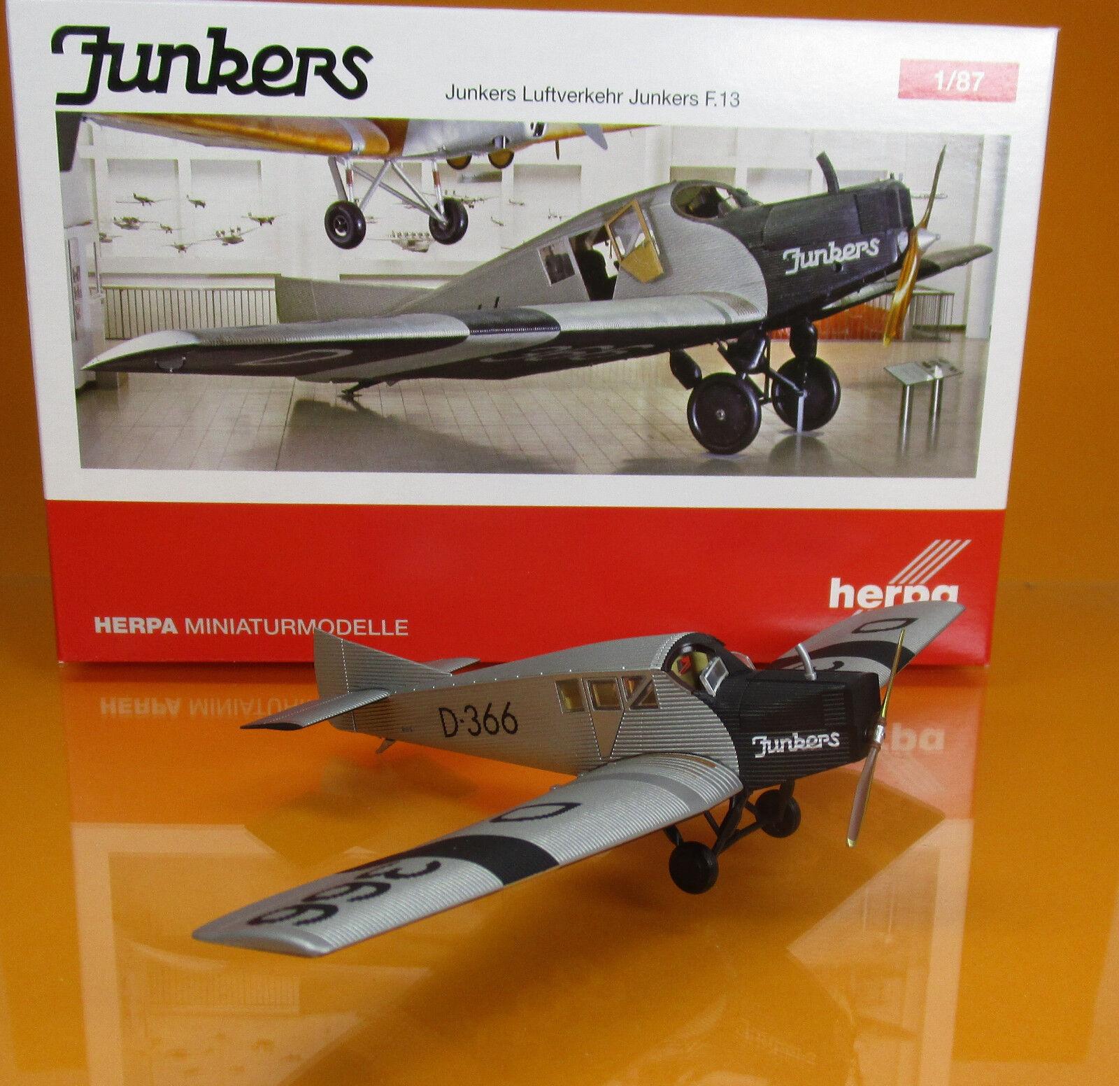 Herpa 019378 Junkers aérien Deutsches Museum de Munich Junkers f13 D 366