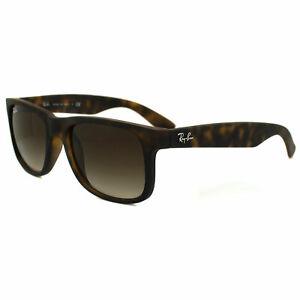 99b6cda0bbd Ray-Ban Sunglasses Justin 4165 710 13 Rubber Light Havana Brown ...