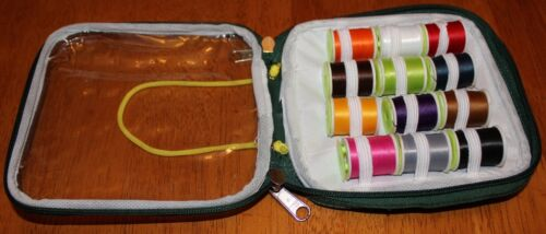 Fly Tying Case of 12 tying flosses different colours