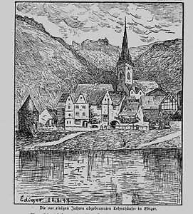 Mosel * ediger-eller * alcuni anni fa distrutti dagli incendi lehnshäuser in ediger *