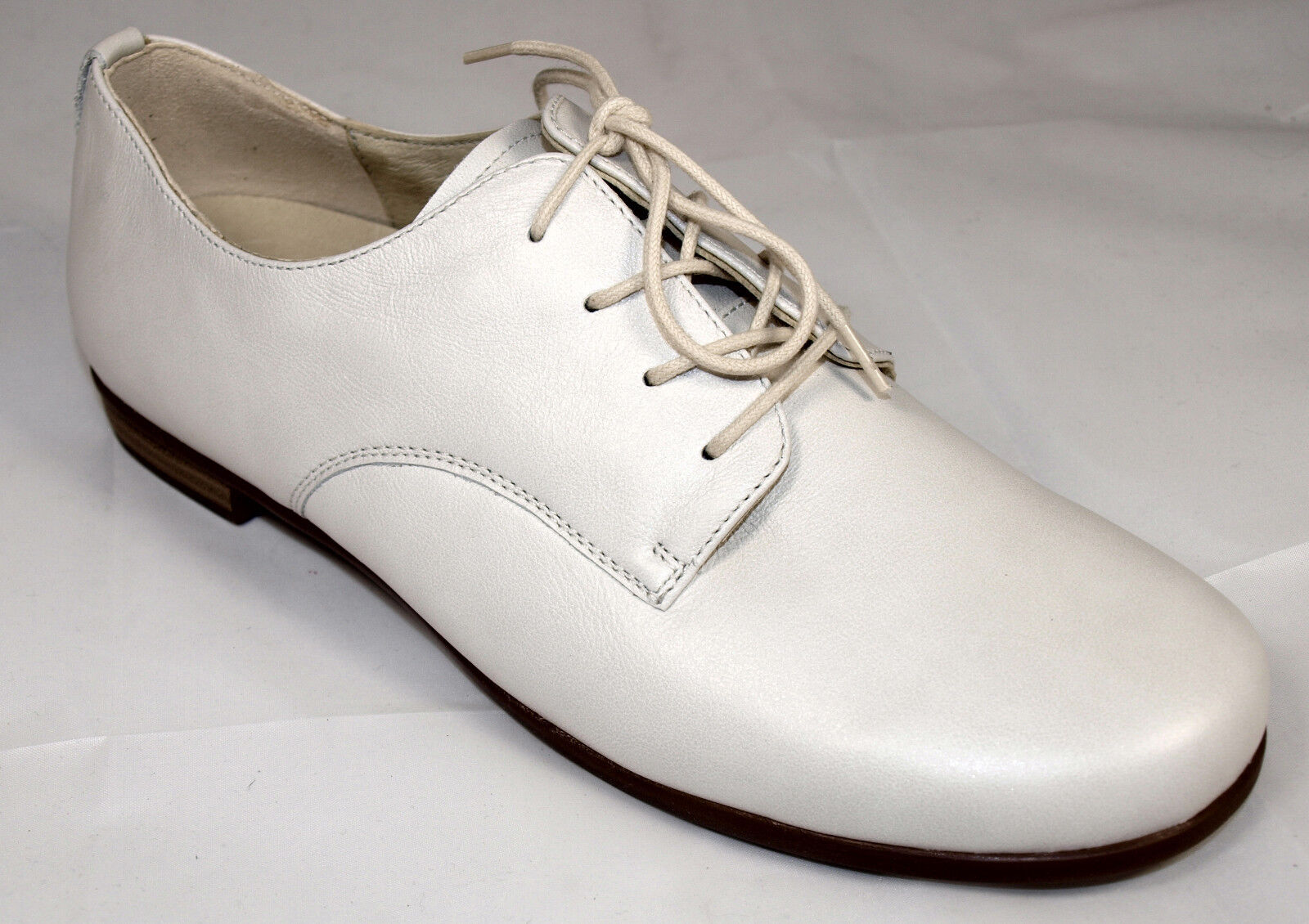 Waldläufer Schuhe Damen Leder Weite H creme weiß Schnürschuhe Neu ... c0c6949012