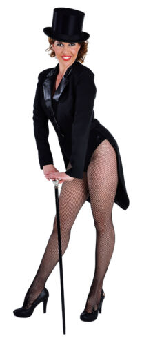 sizes 6-22 Cabaret // Chaplin // Dance Ladies Tailcoat Deluxe BLACK