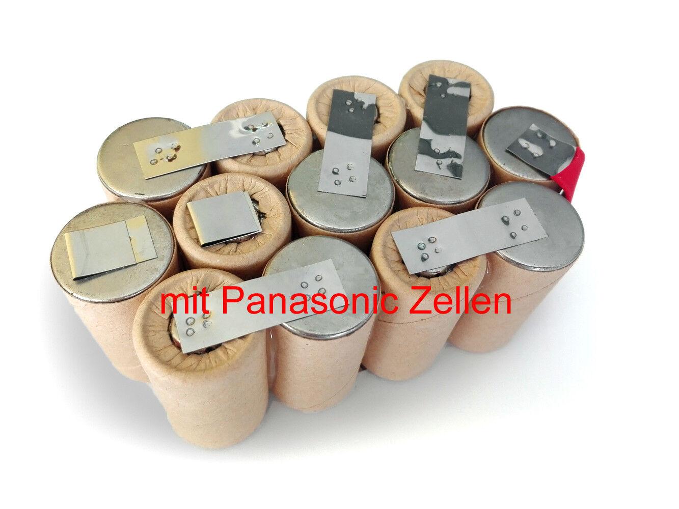 Akku für Metabo 63174800   63174900 15,6V 3000mAh Ni-MH Panasonic Selbsteinbau