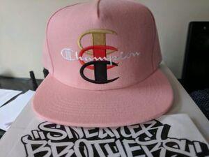 44c4b69bd6791 Brand New Supreme x Champion 5-Panel Snapback Cap Hat Pink Box Logo ...