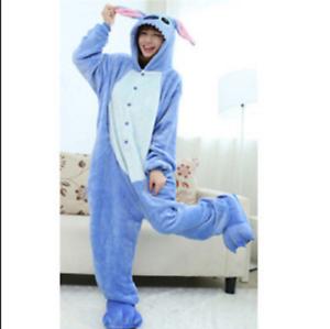 Adult Costume Sleepwear  Disney/'s Lilo/&Stitch Blue Stitch Animal Pajamas Unisex