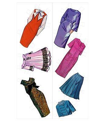 VINTAGE 1965 PATTY DUKE MAGIC PAPER DOLLS ~ RARE~ UNCUT LASER REPRODUCTION