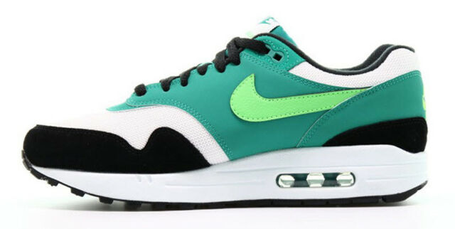 Nike Air Max 1 Size 9 White Green Strike Mens Running Shoe Ah8145 107