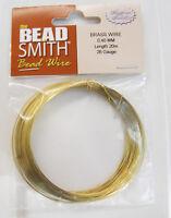 26 Gauge Beadsmith Germany Brass Wire Bwg04b