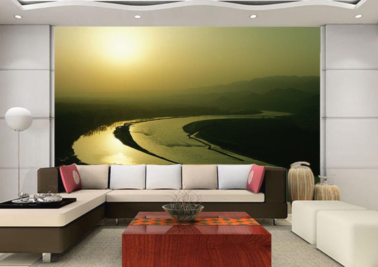 3D River Sun 402 Wallpaper Murals Wall Print Wall Mural AJ WALL AU Summer