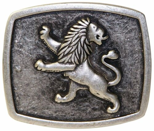 "Bavarian lion silver buckle German buckle 1.5/""//4cm FRONHOFER Oktoberfest buckle"