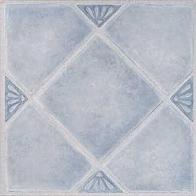 Blue Marble Vinyl Floor Tile 36 Pcs Adhesive Flooring - Actual 12'' x 12''