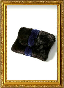 Remi Reid Plush Black Faux Fur