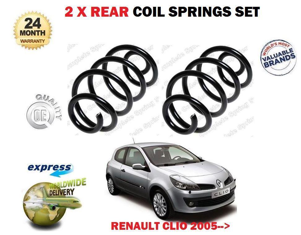 Für Renault Clio 1.2 1.4 1.6 16v Marke 3 2005  Neu 2x Fahrwerksfeder Hinten Satz
