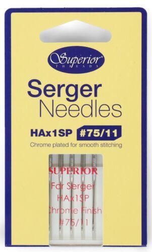 Plaqué chrome machine aiguilles par organ ELx705 taille 80//12 overlock serger needles